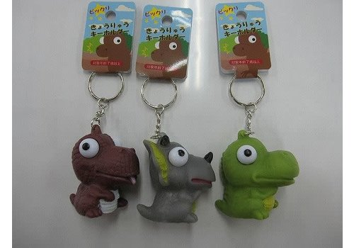 Surprising dinosaur key chain