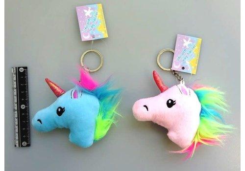 Plush charm keychain, unicorn