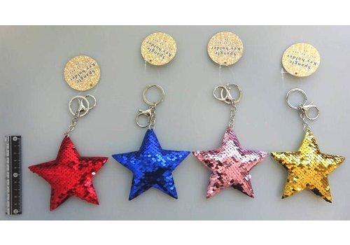 Spangle key chain (star)