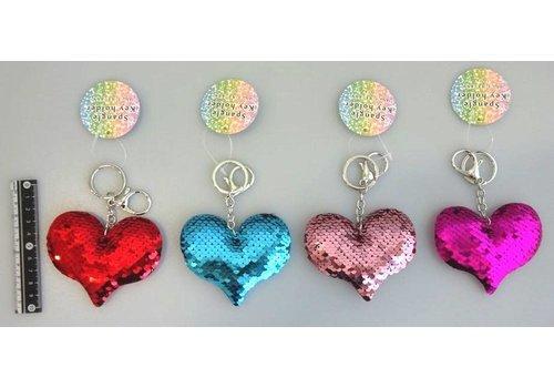 Keychain, spangle, heart