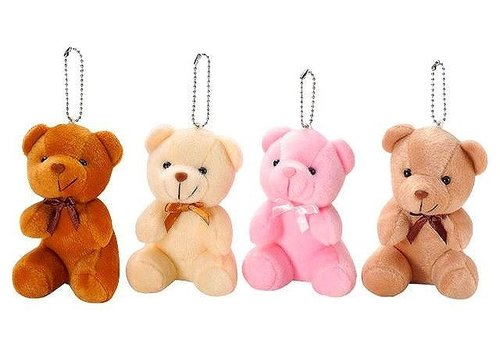 Sitting bear key ring