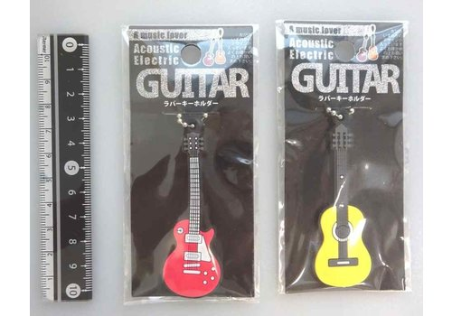 Rubber key chain guiter