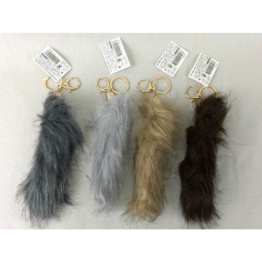 Fur key chain (tail)-1