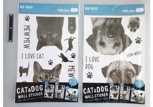 Wall sticker cat and dog