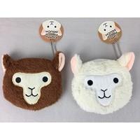 Fluffy alpaca pouch