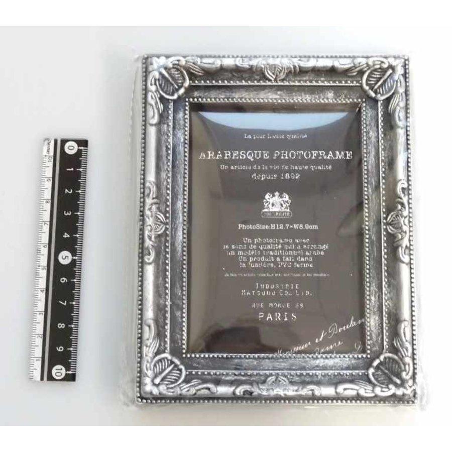 Arabesque photo frame silver-1
