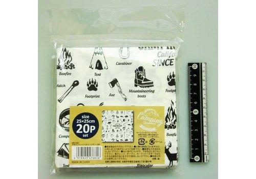 Craft napkin 20s outdoor motif