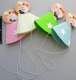 Pika Pika Japan Mini felt hat pastel star