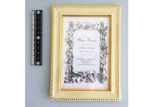 Photo frame classical white