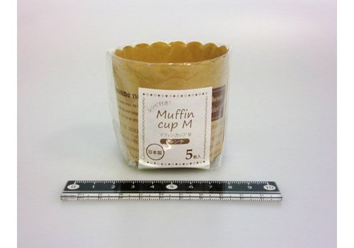 Muffin cup M French pattern 5p