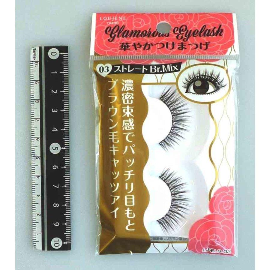 Glamorous fake eye lashes 03 straight BrM-1