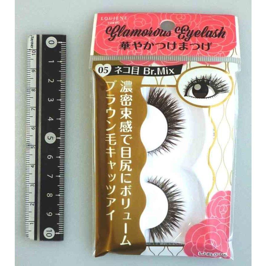 Glamorous fake eye lashes 05 cat's eye BrMix-1