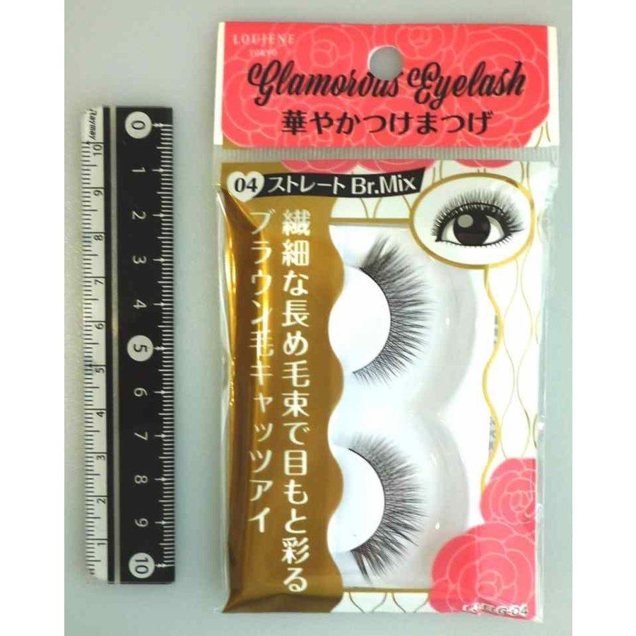 Glamorous fake eye lashes 04 straight BrM-1