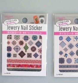 Pika Pika Japan LJ nail seal 81 thin type Moroccan tile