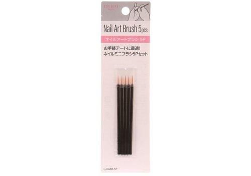 Nail art brush 5p