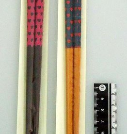 Pika Pika Japan Bamboo chopstick love heart pattern 21cm