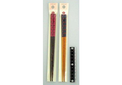 Bamboo chopsticks, heart pattern