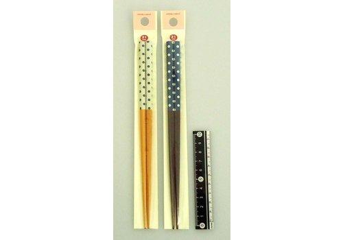 Bamboo chopstick French dot pattern 21cm