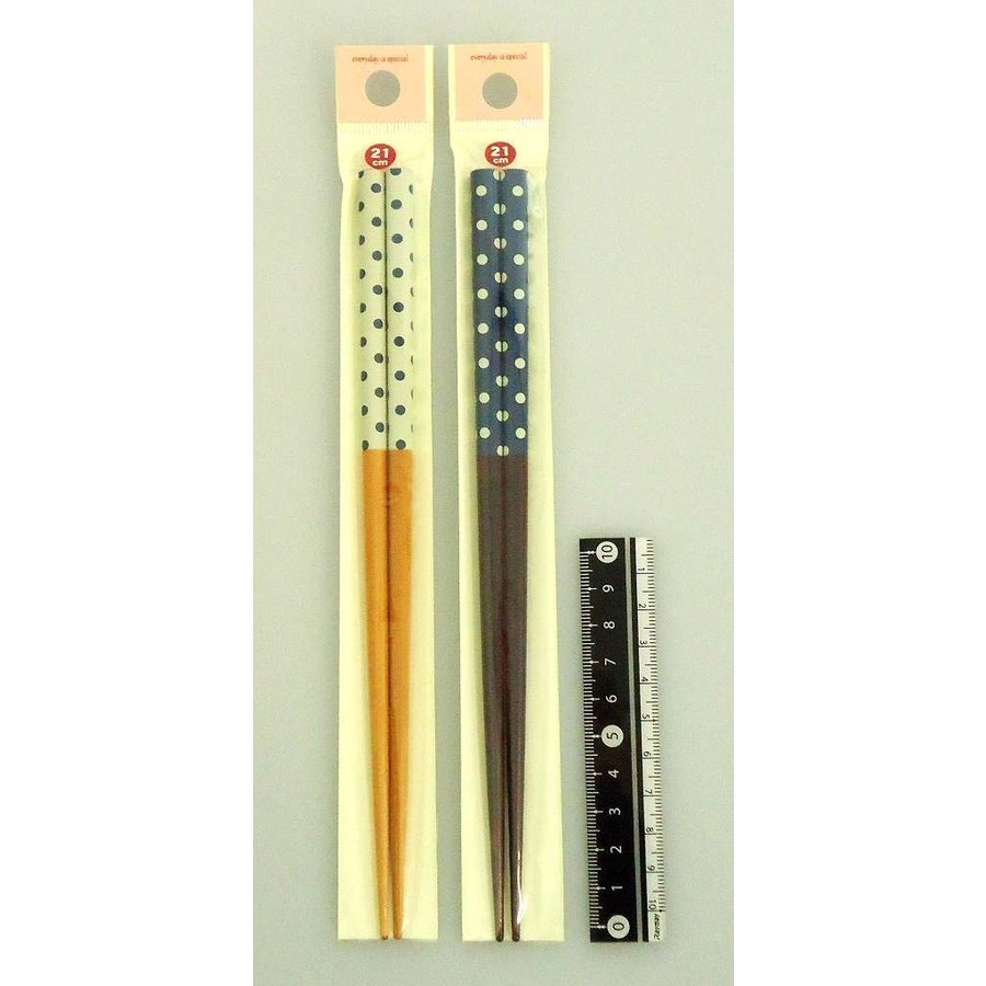 Bamboo chopstick French dot pattern 21cm-1