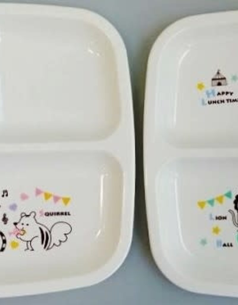 Pika Pika Japan Animal musical square lunch plate