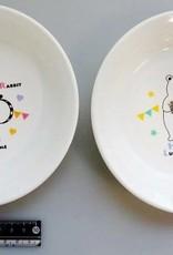 Pika Pika Japan Animal musical deep type plate 15
