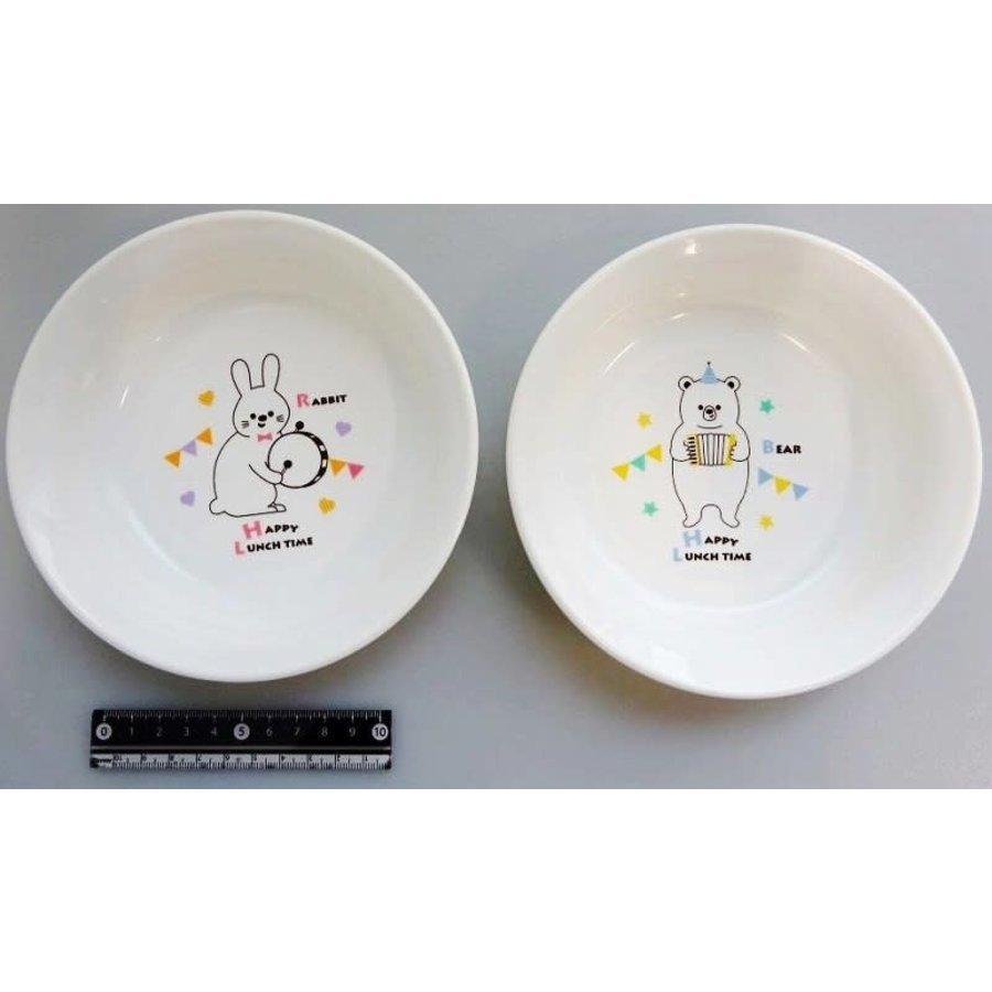 Animal musical deep type plate 15-1