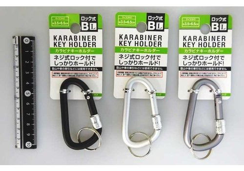 Carabiner key ring with screw lock L B