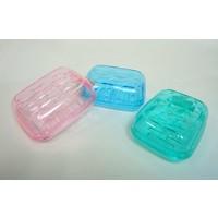 Clear soap tray