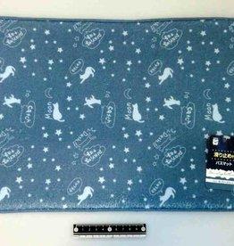 Pika Pika Japan Bath mat with stopper cat