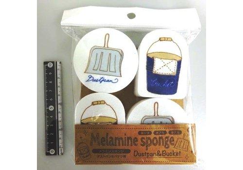 Printed melamine sponge 4p