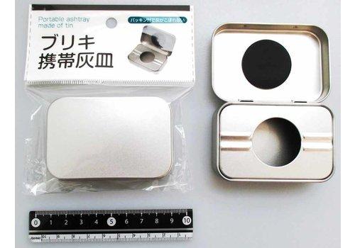 Tin plate portable ash tray