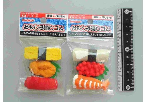 ?Iwako fancy eraser sushi motif 3p