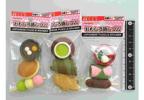 Iwako fancy eraser Japanese sweets motif 3p