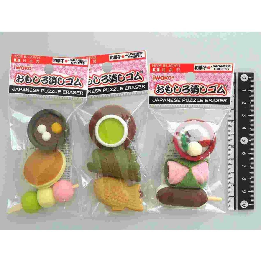 Iwako fancy eraser Japanese sweets motif 3p-1