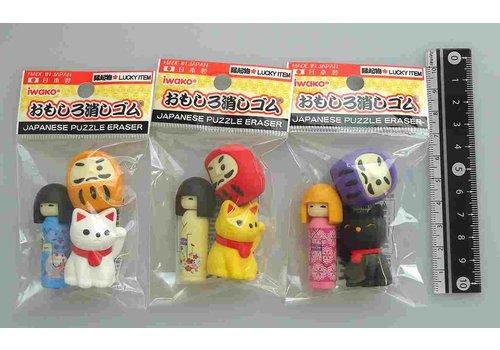 ?Iwako fancy eraser good fortune goods motif 3p