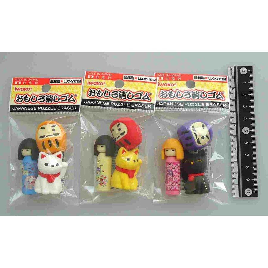Iwako fancy eraser good fortune goods motif 3p-1