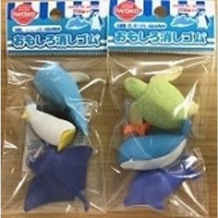 Iwako funny eraser aquarium-1