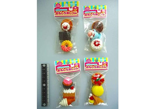 Iwako funny eraser sweets 3p