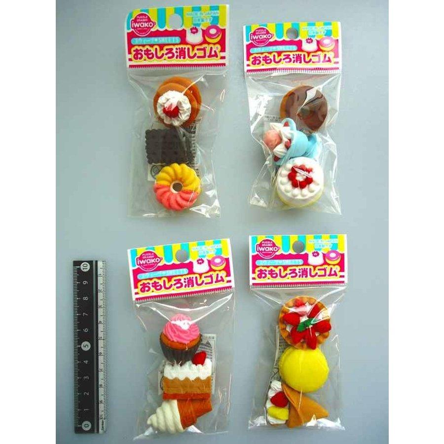 Iwako funny eraser sweets 3p-1