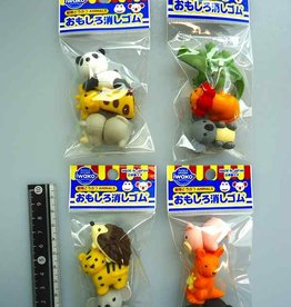 Pika Pika Japan Iwako funny eraser animal 3p