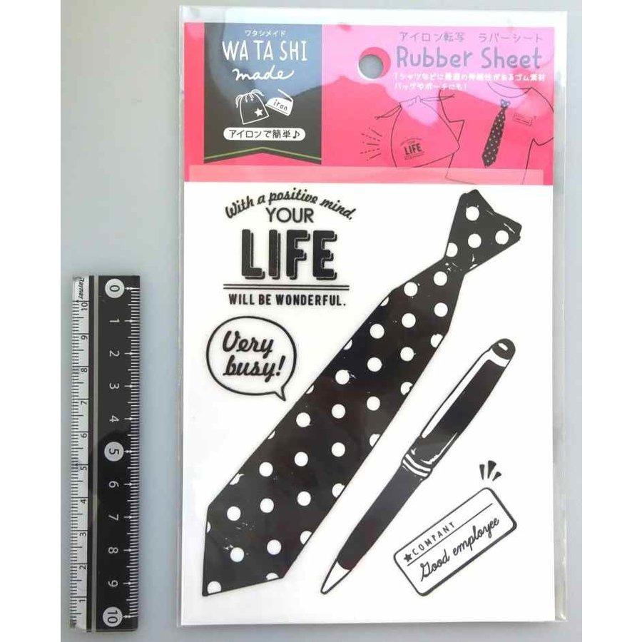 Ironing transcription rubber sheet necktie-1