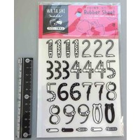 Ironing transcription rubber sheet numbers