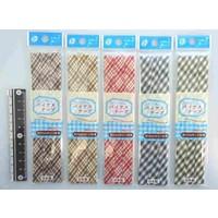 Bias tape 12mm width check pattern