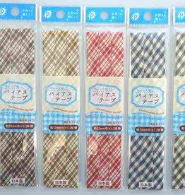 Pika Pika Japan Bias tape 12mm width check pattern