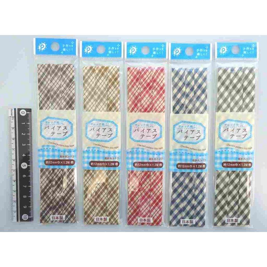 Bias tape 12mm width check pattern-1