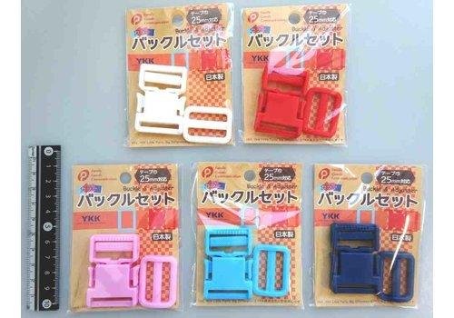 YKK buckle set (color) 25mm wide