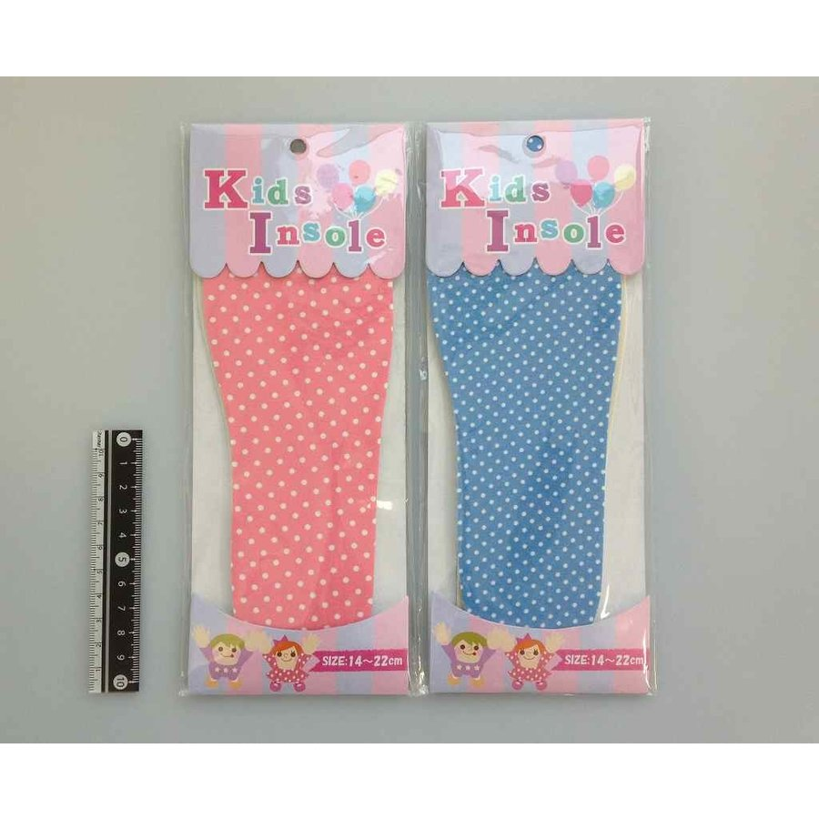 Kids insole pastel color and dot pattern : PB-1