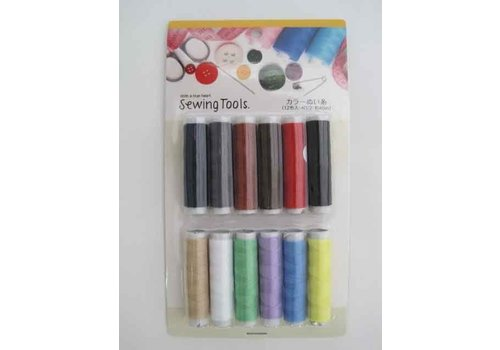 Color sewing thread 12p : PB