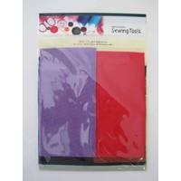 Color felt fabric 5p dark color : PB