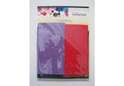 Color felt fabric 5p dark color : PB